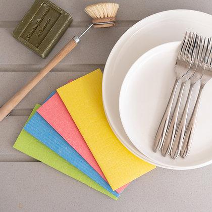Rainbow Compostable Sponge Cleaning Cloths (6pk)