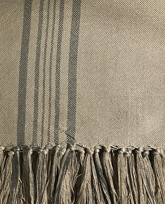 French Linen Antibes Grey Throw