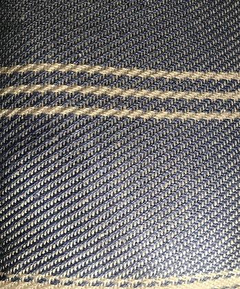 Cobalt Oxford Stripe Cushion