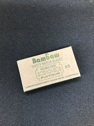 Additional Stainless Steel Blades for the Bambaw Safety Razor