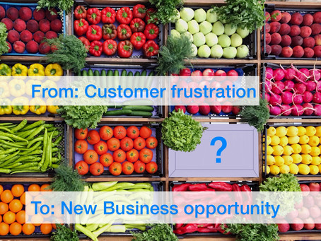 From: Customer frustration, To: New Business opportunity