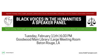 Black Voices In The Humanities: A Speaker Panel