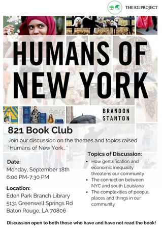 821 Book Discussions: Humans of New York