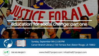 Education For Social Change: Part One
