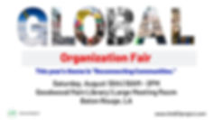 Global Organization Fair (official flyer