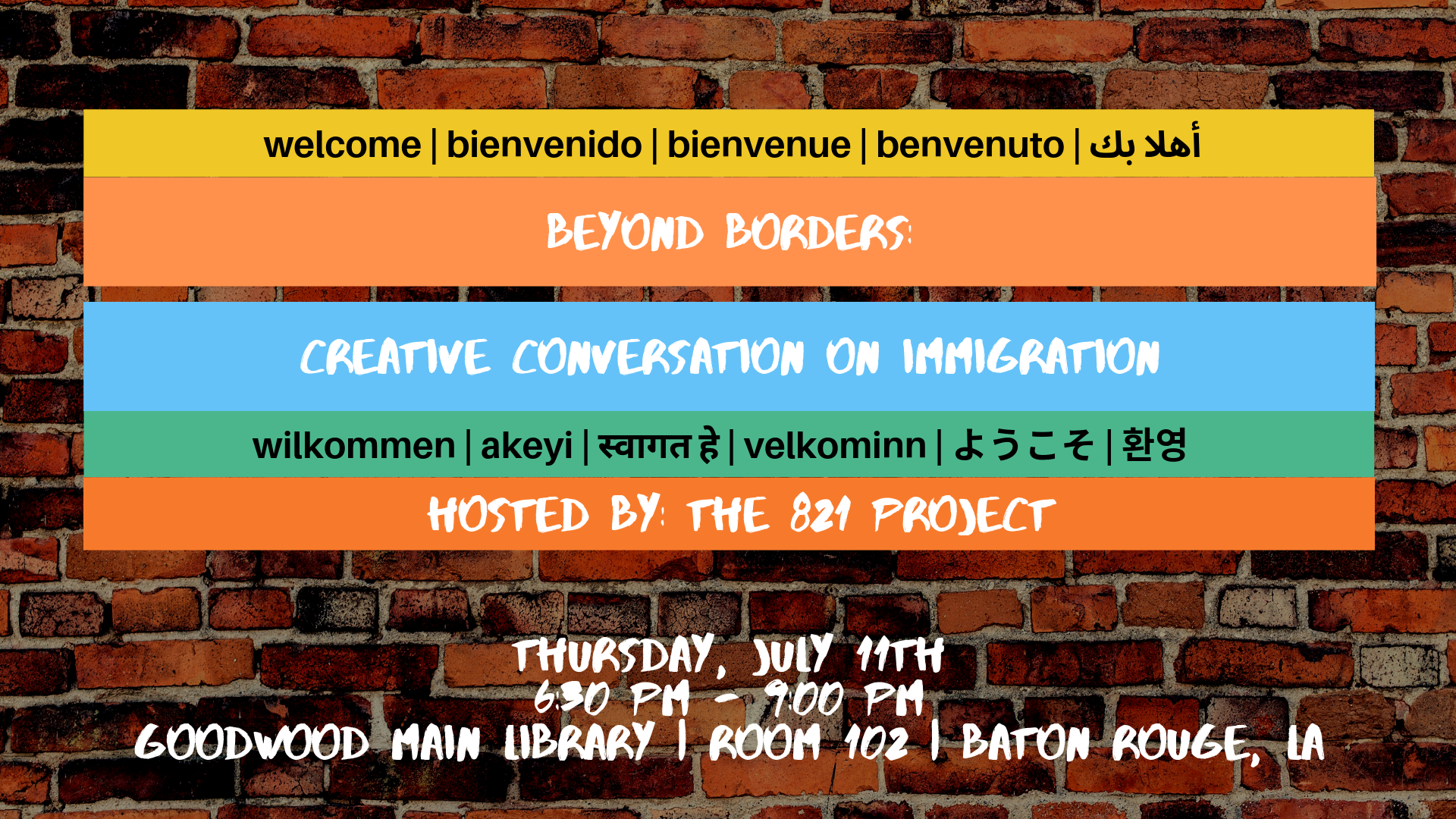 Beyond Borders: Creative Conversation On Immigration
