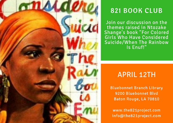 The 821 Book Club: April 2017 | The 821 Project | Intercultural ...