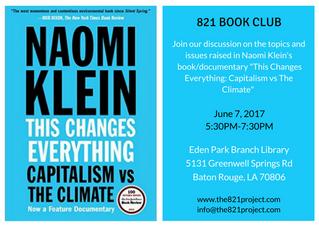 821 Book Club: June 2017