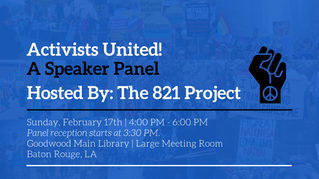 Activists United! A Speaker's Panel