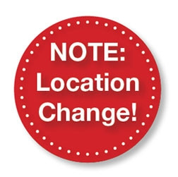Logo that says note: location change