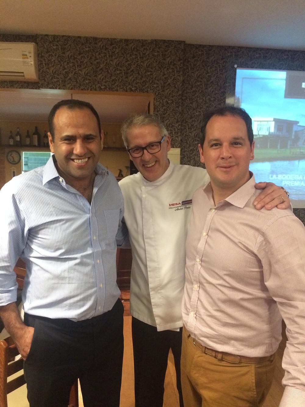 Labid Al Ameri, André Porto e Pablo Torrassa