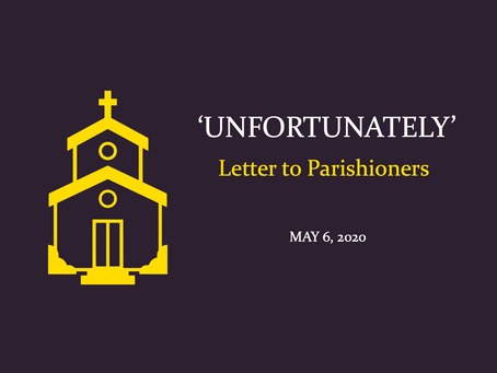 'Unfortunately' Letter - May 6, 2020