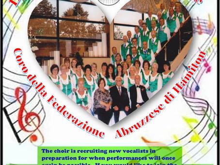 Join the Coro Abruzzese di Hamilton