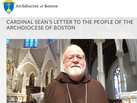 Cardinal Seán's Letter to the people of the Archdiocese of Boston