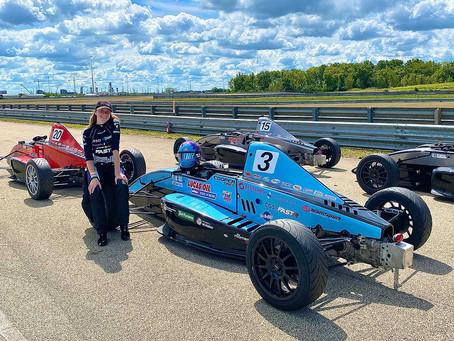Emily Linscott has best Lucas Oil Formula Car Series weekend so far