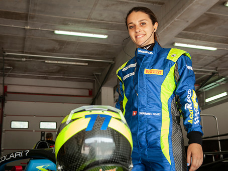Sharon Scolari: the race driver next door.