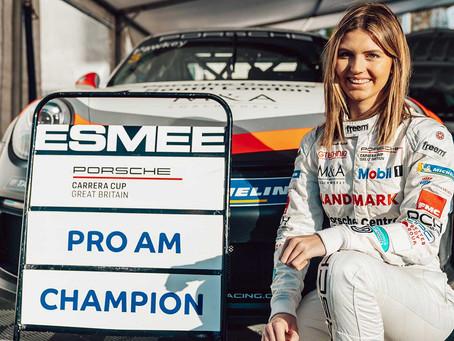 Esmee Hawkey crowned Porsche Carrera Cup GB Pro-Am champion