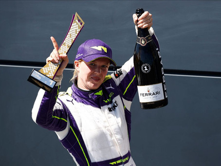 W Series: Alice Powell wins home race at Silverstone and takes championship lead