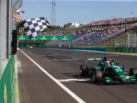 W Series: Jamie Chadwick storms to Hungarian GP victory as Martí claims first podium