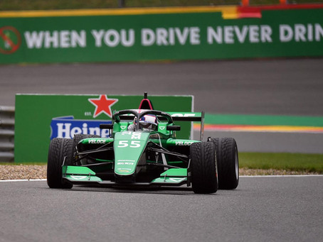 W Series: Jamie Chadwick takes pole position after red-flagged qualifying in Spa