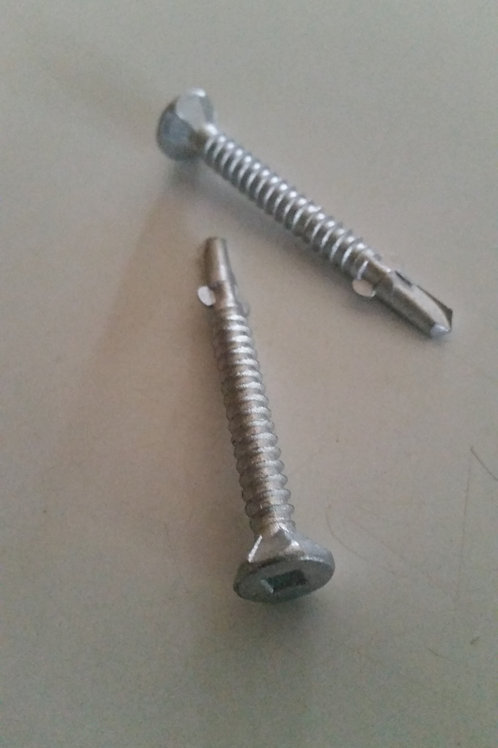 10g-16 x 45mm Stainless G316 Csk Square Self-drilling Screws Qty = 1