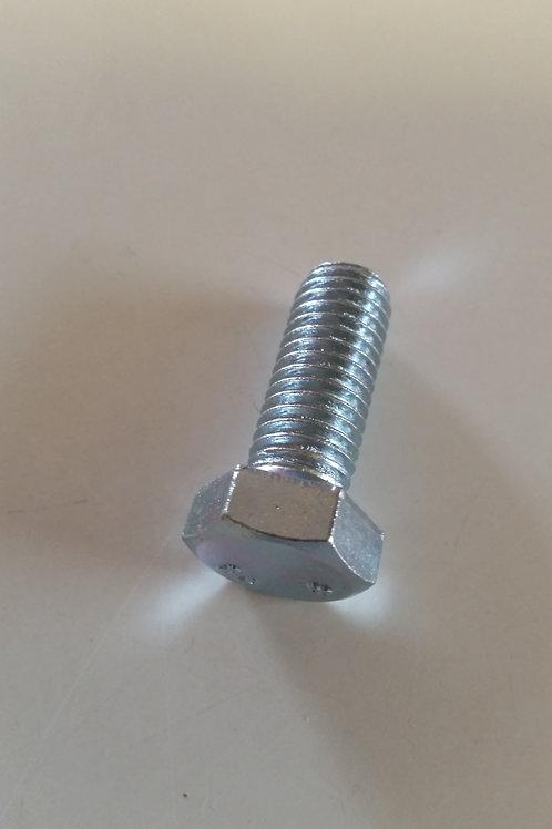 M12 x 35 Zinc Plated Mild Steel Class 4.6 Hex Setscrew Pkt Qty = 100