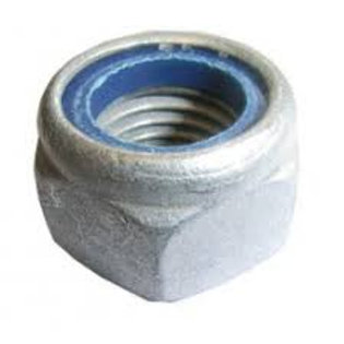 12mm Galvanised Class 6 Nylock Nut Pkt Qty = 100