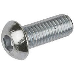 M3 x 8 Zinc Plated High Tensile Button Head Socket Screw