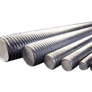 M12 x 1m Galvanised Mild Steel Class 4.6 Threaded Rod Pkt Qty = 10