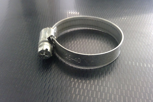 25-40mm capacity (9mm Band) Stainless G304 Hose Clamps Pkt Qty = 10