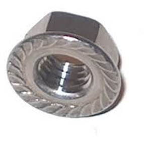 M6 Stainless Steel G316 Serrated Flange Hex Nut Pkt Qty = 100