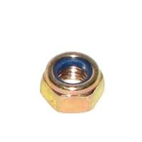 4mm Zinc Yellow Nylock Nut Qty = 1