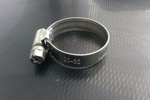 20-32mm capacity (9mm Band) Stainless G304 Hose Clamps Pkt Qty = 10