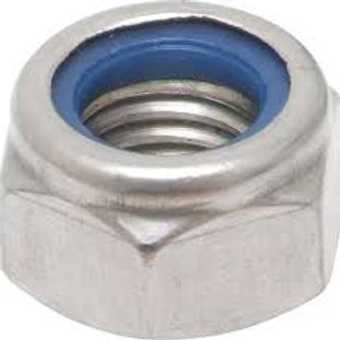 4mm Stainless Steel G304 Nylock Nut Qty = 1