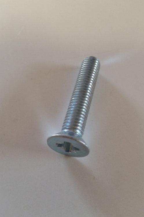 M10 x 40 Zinc Plated Countersunk Pozi Machine Screw Qty = 1