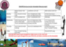 Extra curricular timetable 2020 February