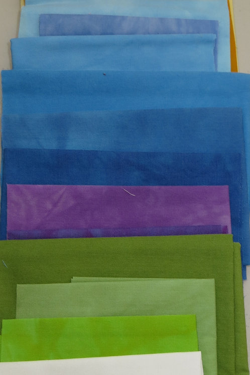 Bluebonnet Hand-Dyed Fabric Pack