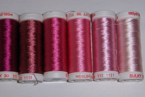 40-Weight Sulky Thread Collection (Pinks)