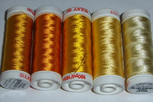 40-Weight Sulky Thread Collection (Yellows)
