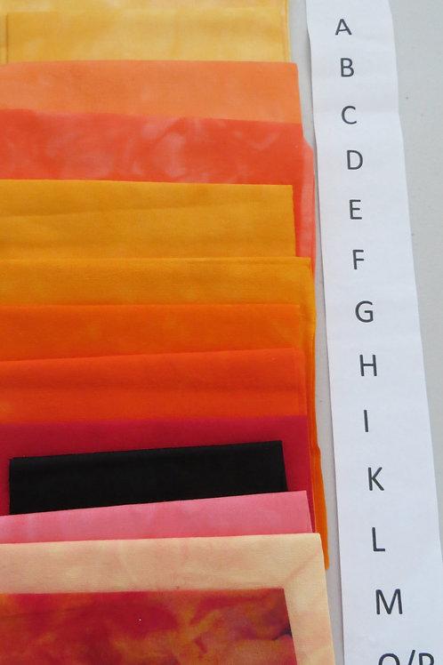 Zinnia Hand Dyed Fabric Pack  (Orange)