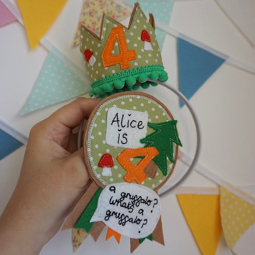 Gruffalo Themed Crown & Badge Set