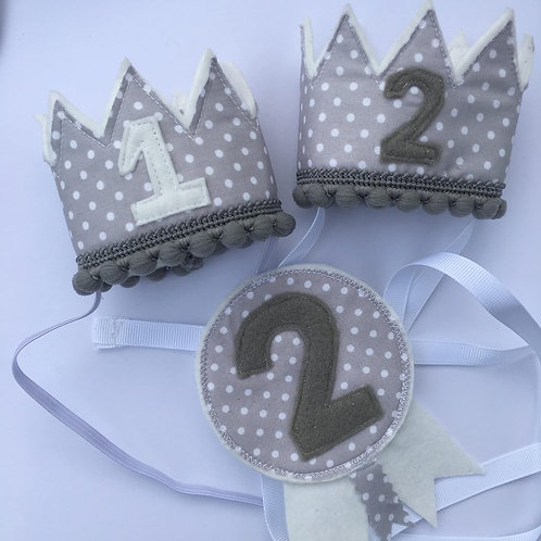 Grey Spot Birthday Set