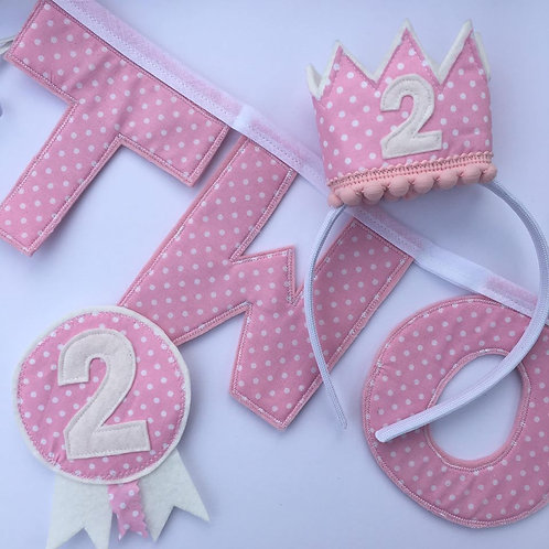 2nd Birthday Set - Pink