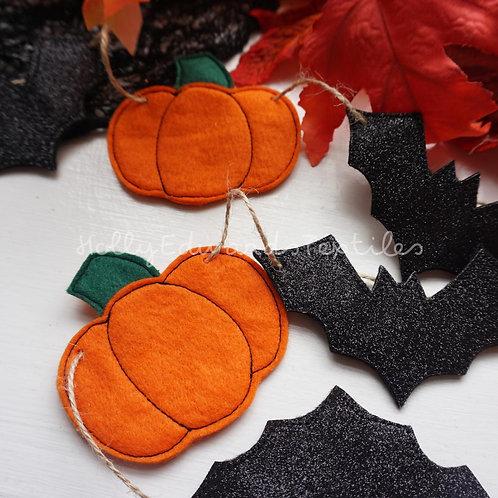 Halloween Embroidered Garland