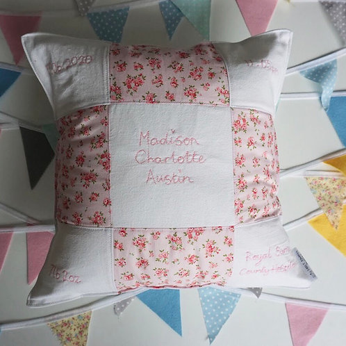 Patchwork Embroidery Cushion