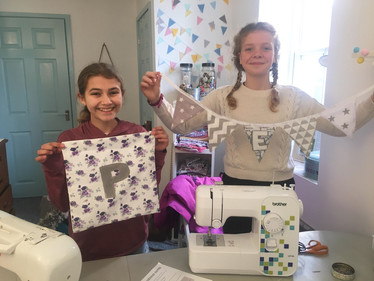 Polly and Elisa with their makes