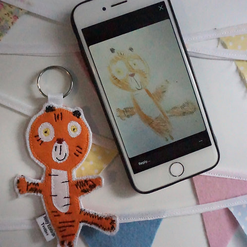 Children's Drawing Keyrings