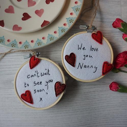 Embroidered Hoop Keepsake
