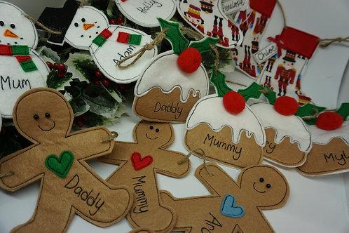 Gingerbread/Pud Family Garlands