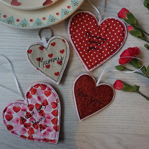 Heart Decorations/Keyrings